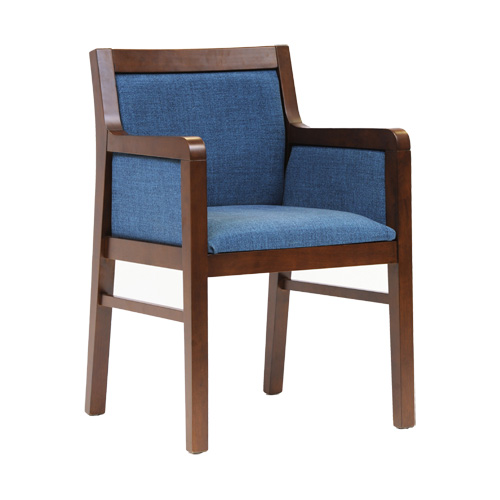 Club Dining Chair Dark Walnut Highland Blue 2