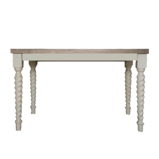Barley Twist Rectangle Table Weathered Oak copy