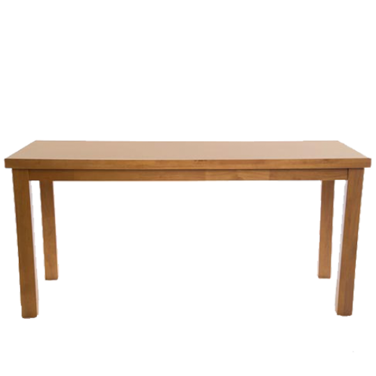 Chunky Rectangle Traditional Dining Table Soft Oak Wooden Legs Pubstuff 1