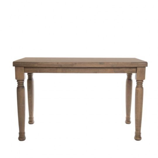 Farmhouse Rectangle Traditional Dining Table Weathered Oak Wooden Legs Pubstuff 2