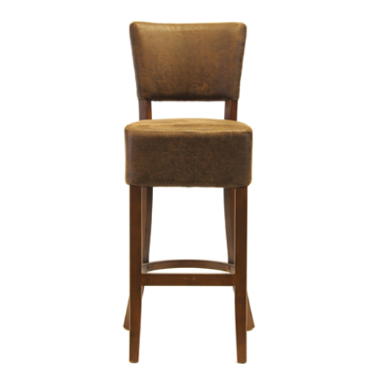 Luigi Bar Chair Dark Walnut Nevada Truffle 1