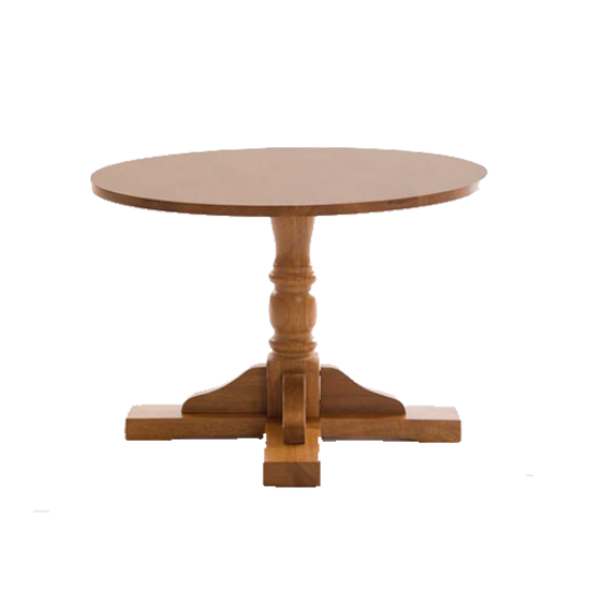Stowe Round Pedestal Traditional Coffee Table Soft Oak Wooden Pubstuff 4