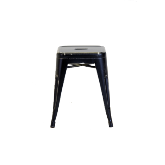 Xavier Low Stool Distressed Black1